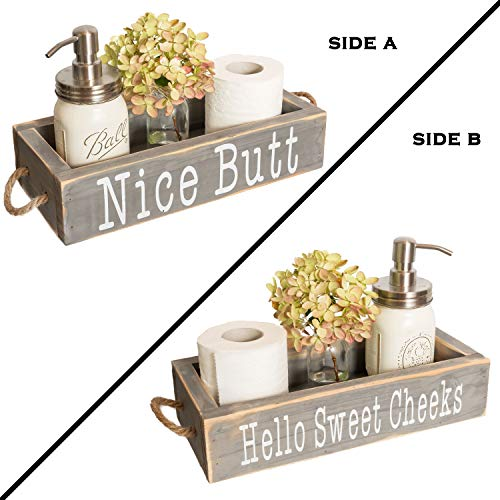 Nice Butt Bathroom Decor Box, 2 Sides with Funny Sayings - Funny...