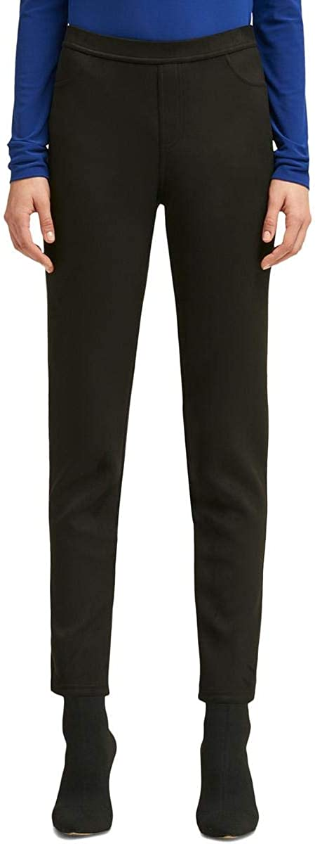 DKNY Womens Faux-Suede Casual Trouser Pants