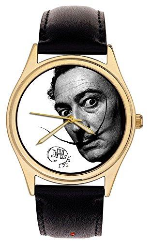 Hommage an Salvador Dali Surreal Selbstportrait Kunst Sammlerstück Symbolische Kunst Armbanduhr