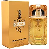 Paco Rabanne 1 Million Cologne Eau de Toilette Spray for Men, 2.5 Fl Oz
