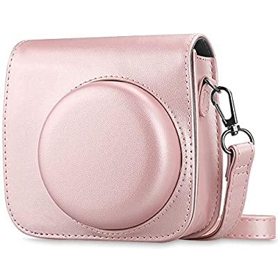 Fintie Protective Case Compatible with Fujifilm Instax Mini 8 Mini 8+ Mini 9 Instant Camera - Premium Vegan Leather Bag Cover with Removable Strap from Fintie