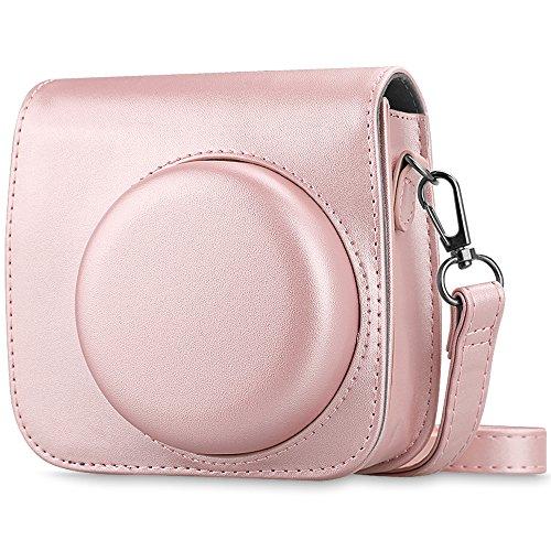 Fintie Tasche für Fujifilm Instax Mini 8 / Mini 9 Sofortbildkamera - Premium Schutzhülle Reise Kameratasche Hülle Abdeckung mit abnehmbaren Riemen, Roségold