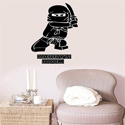 Wandtattoo Wohnzimmer Wandtattoo Schlafzimmer Superheld Ninjago Personalisiertes Kinderzimmer Ninga für das Schlafzimmer des Jungen
