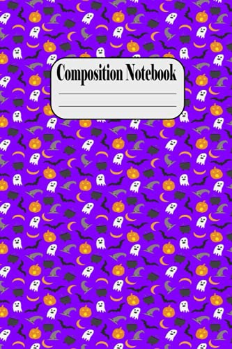 Composition Notebook: Halloween Orange and White Kawaii Kitty Cat Ruled Composition Notebook - A Very Special halloween Notebook to cheer you on and ... - Cute Butterfly Pattern Spiral Notebook