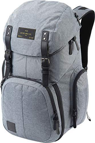 Weekender Alltagsrucksack mit gepolstertem Laptopfach, Schulrucksack, Wanderrucksack inkl. Nassfach, 42 L, Black Noise