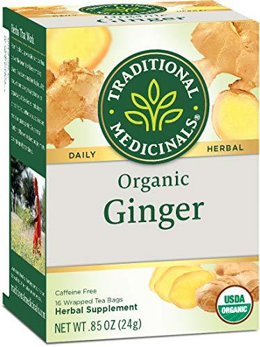 Traditional Medicinals Organic Ginger Herbal Leaf Tea, 16 Tea Bags (Pack of 6)