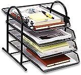 Bandeja para Cartas, Bandeja Papel A4 Organizador Documentos de 4 Niveles de...