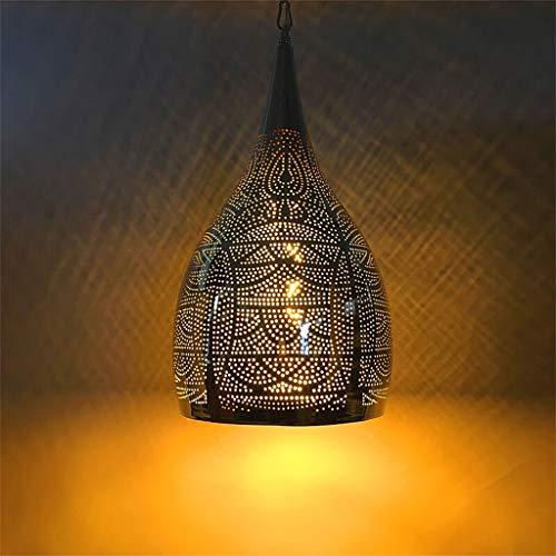 Lámpara marroquí Plafones E27Socket   Luz de linterna colgante de estilo oriental de la vendimia   Araña colgante de iluminación de decoración del hogar árabe para sala de estar dormitorio cocina