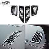 通用 4pcs Carbon Fiber Color Air Conditioning Dashboard Vent Cover Accessories for Ford Ranger T6 T7 T8 Everest Endeavour 2015-2020