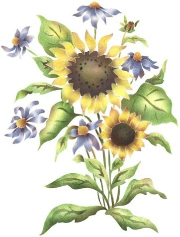 Designer shipfree Stencils The Mad Stencilist Stencil; 5 ☆ popular Wall Sunflower Mix