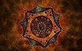 Rompecabezas 1500 Piezas Adultos De Madera Niño Puzzle-Mandala Marrón-Juego Casual De Arte Diy Juguetes Regalo Interesantes Amigo Familiar Adecuado