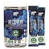 Amino VITAL Rapid Recovery- BCAAs Amino Acid Post Workout Powder Packets | Muscle Recovery Drink with Glutamine | Vegan, Gluten Free Supplement | 14 Single Serve BCAA Travel Packets | Blueberry Flavor