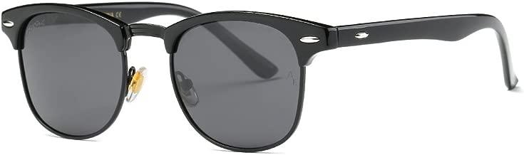 AEVOGUE Polarized Sunglasses Semi Rimless Frame Retro Brand Sun Glasses AE0369