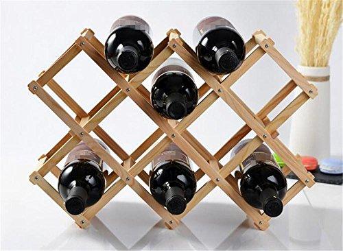JINGYU Porte-Vaisselle en Bois/ameublement de Bar/étagères de décoration d'armoires à vin/étagère de décoration intérieure, Light, 10