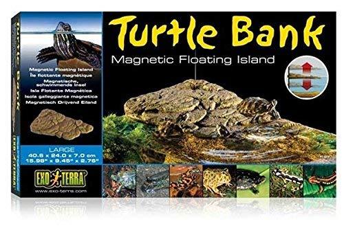 Exo Terra Turtle Bank, magnetische, schwimmende Insel für Schildkröten, ideal für Aqua-Terrarien, groß