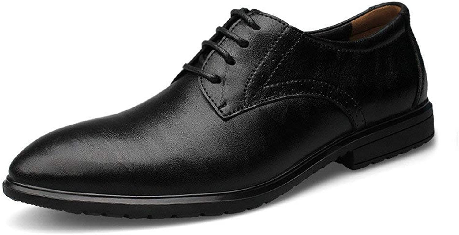 FuweiEncore 2018 Men Business Oxford Casual New Invisible Inside Increase Classic Formal shoes (color  Black, Size  43 EU) (color   Black, Size   46 EU)
