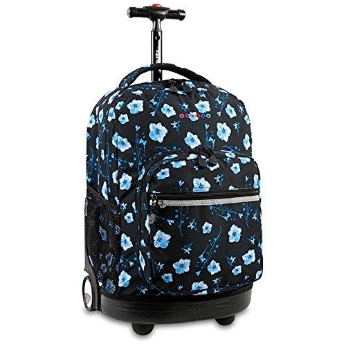J World New York Sunrise Rolling Backpack, Night Bloom