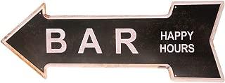 HANTAJANSS Metal Signs Retro Arrow Embossed Bar Signs for Pub Decoration