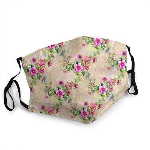 Máscara facial acuarela pintura hojas flores reutilizables lavables hombres mujeres paño polvo cubierta cubierta escudo pasamontañas deportes al aire libre negro