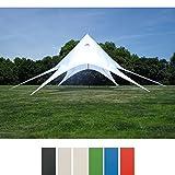 Sternzelt 10 Meter I Event-Zelt Mit 10 Meter Durchmesser I Gartenzelt In Vielen Farben   Überdachte Zeltfläche Von Ca. 15 M², Farbe:weiß