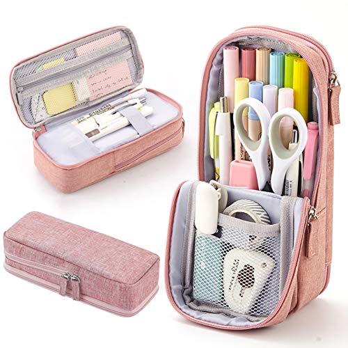 Estuche de almacenamiento grande para lápices, estuche de papelería para niños y niñas estudiantes, bolsa de papelería, estuche para bolígrafos para la escuela y suministros de oficina