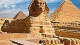 Rompecabezas de 500 Pieza Rompecabezas de Madera pirámide y Esfinge Decoraciones Familiares, Regalo de cumpleaños único Adecuado para Adolescentes y Adultos 52x38cm