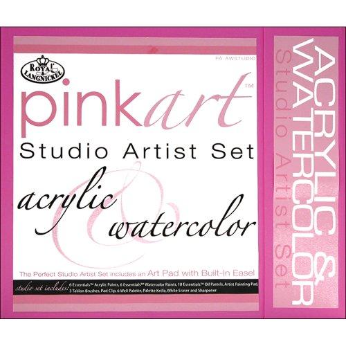 Royal and Langnickel Pink Art Kit peinture acrylique / aquarelle