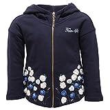 8394V Felpa Bimba Twin-Set Simona BARBIERI Full Zip Cotton Blue Sweatshirt Girl [3 Years]