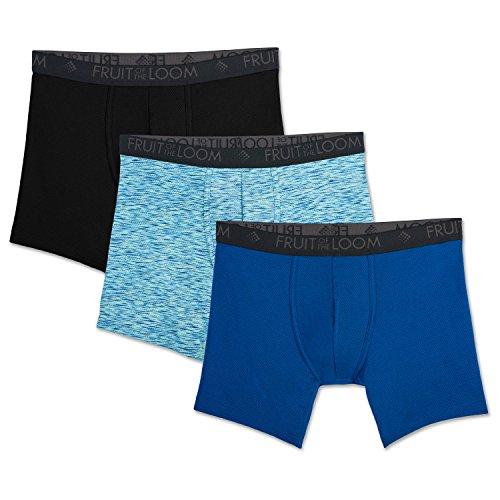 Fruit of the Loom Men's Breathable Underwear, Micro Mesh - Prints - Boxer Brief, Medium