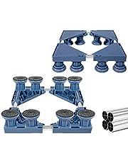 Lavar Base de la máquina, Ajustables 41-68 cm, Tubo de Acero InoxidableNevera Secador de Soporte,Blue-8Feet