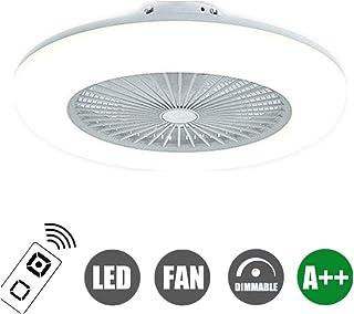 N / A Ventilador de Techo con LED Moderno de luz de Intensidad Variable Ajustable con Control Remoto Dormitorio iluminación de Techo de 36W Velocidad del Viento del Ventilador Limpiar la
