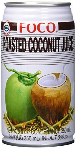 Foco Kokosnusssaftgetränk aus gerösteter Kokosnuss, 12er Pack (12 x 350 ml)