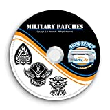 Military Army Navy Marines Patches Clipart-Vector Clip Art-Vinyl Cutter Plotter Images-T-Shirt Graphics CD