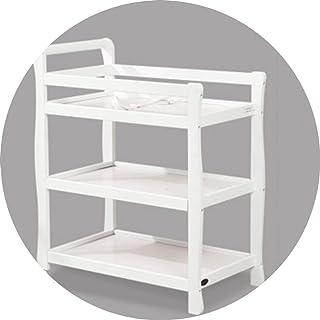 Portable Changing Mats Diaper Table Multifunctional Crib Newborn Storage Storage Bath (Color : White, Size : 90 * 51 * 97cm)