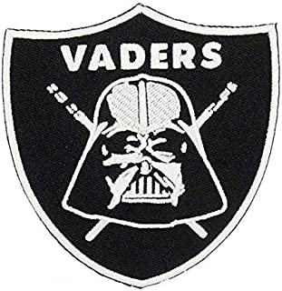 STAR WARS Darth Vader Sith Lord GLOW IN THE DARK Embroidery PATCH Shirts Hats Jackets Bags Halloween Costume Easy Iron On