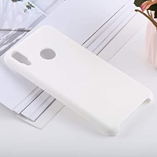 Phone Shell Solid Color Liquid Silicone Shockproof Case for Huawei Honor 8X(Black) (Color : White)