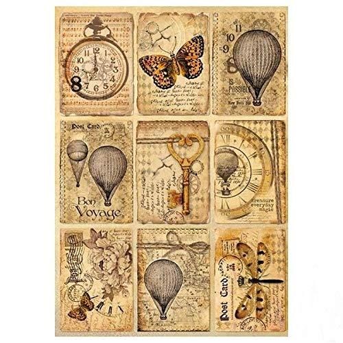 Stamperia Reispapier Postales, 21 x 29.7 cm, mehrfarbig