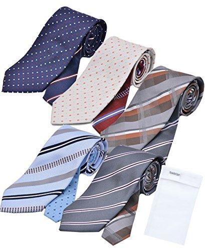 ビジネスマンサポート 洗えるネクタイ 5本セット 洗濯ネット付き u-a3b3c3d3e3