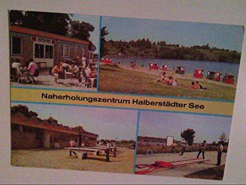 AK. Naherholungszentrum Halberstädter See. Mehrbild. Blick auf Seeterrassen.