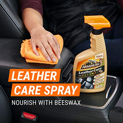Armor All Car Leather Care Spray Bottle, Cleaner for Cars, Truck, Motorcycle, Beeswax, 16 Fl Oz, 18934