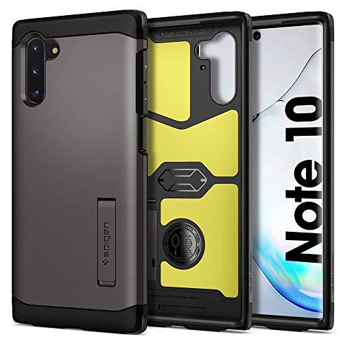 Spigen Tough Armor für Samsung Galaxy Note 10 Hülle, Doppelte Schutzschicht Handyhülle für Extrem Fallschutz Schutzhülle Hülle Gunmetal 628CS27379