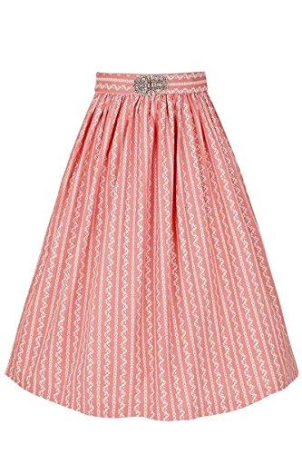 Gwandlalm Damen Broschen Dirndlschürze 65cm rosa, Rosa, L