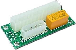 2 حزمة مزدوجة PSU محول إمدادات الطاقة المتعددة، ad2psu ATX 24pin إلى موليكس 4Pin موصل (2 قطعة)