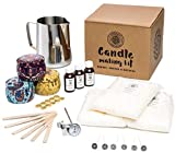 Candle Making Kit by Legacy Naturals, Create Large Scented Candles. Included: Soy Wax