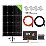 ECO-WORTHY 100 Watt 12V Solar Panels Kit + 20A Charge Controller for Off-Grid