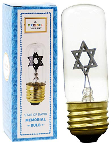Neon Star Bulb Replacement for Yahrzeit Lamp Fixtures to Memorialize a Loved One