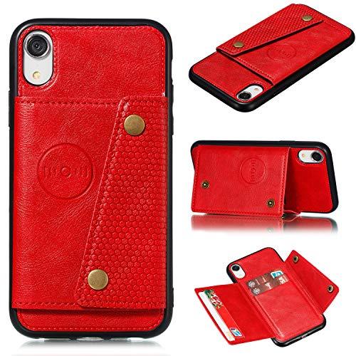 Hongjian Funda para Apple iPhone X TPU Case PU Leather Soft Cover + Card Bag Protective Case Cover 5
