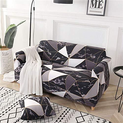 Funda de sofá elástica de algodón con Todo Incluido Funda de sofá para Sala de Estar Funda elástica en Forma de L Sofá de Esquina A10 2 plazas