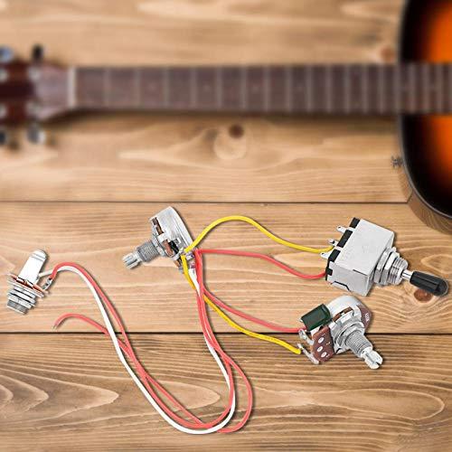 Piezas de repuesto de circuito duradero para guitarra eléctrica con 2 Humbuckers para amantes del banjo