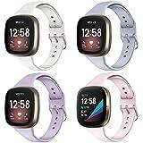 KIMILAR [4 Piezas Correa Compatible con Fitbit Sense/Versa 3 para Mujeres y Niñas, Correa...